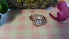 Beautiful New White CZ Flower Filigree Ring 925 Sterling Silver*Size  6*B290