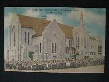 St. John's Evangelical Lutheran Church Exterior Des Moines, IA Vintage Postcard