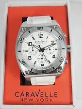 Bulova Caravelle White Silicone Chronograph 43A126 New Unisex