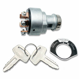 New Engine Ignition Key Starter Switch Assembly w/ 2 Keys for Kubota 66706-55120