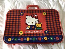 Vintage Hello Kitty Suitcase Red Plaid Sanrio 1976 1995