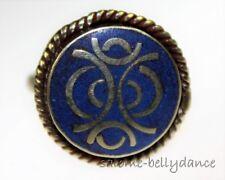 Tibet Ring mit Lapislazuli, Tribal Ring, Asiatischer Schmuck, verstellbar