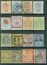 SOUTH AFRICA : Interesting group of 16 Mint & Used from territories Some Better.