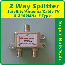 2 Way Splitter Satellite/Antenna/Cable TV  5-2400MHz F TYPE