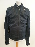 K757 MENS DIESEL BLACK FULL ZIP CASUAL LIGHTWEIGHT JACKET UK S EU 46