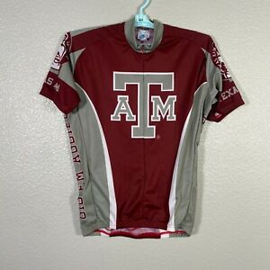 Adrenaline Promotions Texas A&M University Cycling Jersey Mens Large Red