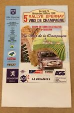 RALLYE EPERNAY CHAMPAGNE 2000 OFFICIAL POSTER RALLY FORD FIESTA SPORT CARS AUTO