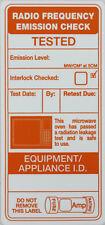 102 Microwave Emission Test Labels for PAT Testing