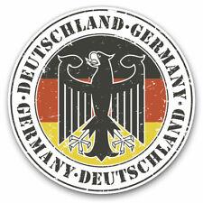 2 x Vinyl Stickers 25cm - Deutschland Germany Eagle Cool Gift #4107