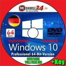 Microsoft Windows 10 Pro 64 Bit DVD Professional Win CD Deutsch Vollversion Neu