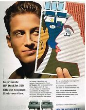 Publicité Advertising 1993 Imprimante HP Deskjet 310 Hewlett Packard