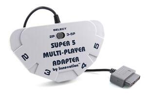 MultiTap / 5 Spieler Controller Adapter / Multiplayer für Super Nintendo / SNES