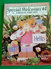 SPECIAL WELCOMES 4 FARM N FRIENDS CORINNE MILLER 1995 SCHEEWE TOLE PAINT BOOK