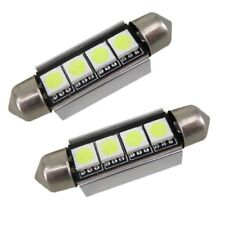 2X 41 mm LED CANBUS Festoon Blanco Libre De Errores Bombillas número de placa placa 239 40 mm 42 mm C5W