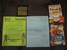 Art of Fighting Mini Marquee & Kit Papers (Used) - Neo Geo MVS Original