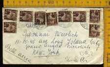 Repubblica 1947 multiplo democratica 2 e 4lire al retro su busta aerea x gli USA