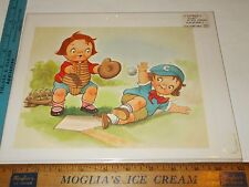Rare Orig VTG Campbell Soup Kids Baseball Mail Away Promo Advertising Art Print