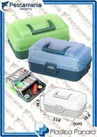 valigetta cassetta cassettina porta oggetti 2 ripiani mm. 336x198x165 H