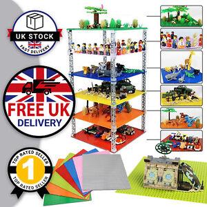 4 x Large Baseplate Compatible Building Block Base Plates Brick Boards Green UK