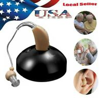 US Rechargeable Sound Amplifier Acousticon Behind Ear Hearing Aid Aids Audiphone