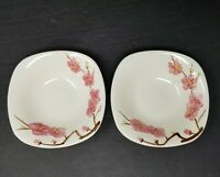 Vintage 1950s SET Of 2 Metlox PEACH BLOSSOM Small BOWLS 5 1/2""