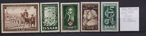 ! Saarland 1951.   Stamp. YT#291,292,293,294,295. €35.00!
