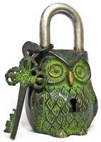 Owl Shaped Brass Lock Antique Handcrafted Locks