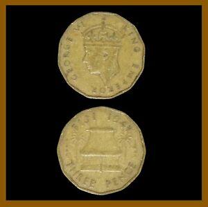 Fiji 3 Pence Coin, 1947 Km# 15 King George VI (Cir)