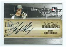 2011 ITG Heroes & Prospects Bobby Borchering Lumbergraphs AUTO AUTOGRAPH RC