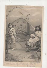 Our New Motor 1905 Postcard Children 610a