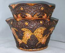 Self Watering Ceramic African Violet Flower Pot/Planter-2 Piece-Flat Base-Large