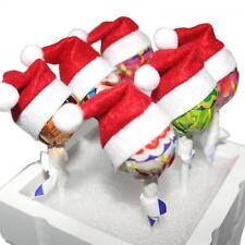 6pcs Children Decoration Santa Claus Hat Topper Wrap Christmas Lollipop Cover