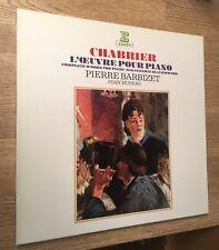 Coffret 3 LP CHABRIER L'oeuvre pour piano Pierre BARBIZET Jean Hubeau piano NM *