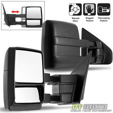 Left+Right 2004-2014 Ford F150 Truck Towing Manual Telescoping Tow Side Mirrors