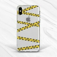 Yellow Warning Caution Tape Men Girl Case For iPhone 6 7 8 Xs XR 11 Pro Plus Max