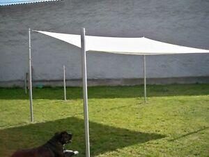 Sonnensegelmast Edelstahl rund frei konfigurierbar Sonnensegelpfosten Stange
