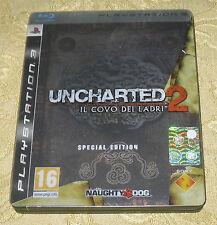 UNCHARTED 2 II IL COVO DEI LADRI SPECIAL EDITION PLAYSTATION 3 PS3 ITALIANO