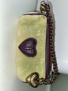 juicy couture Velvet Velour clutch wristlet coin purse mini purse