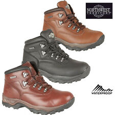 MENS LEATHER WATERPROOF WALKING HIKING TRAIL ANKLE BOOTS SHOES INUVIK SIZES 6-13