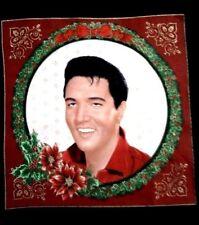 Elvis Presley Christmas Pillow Square VIP Cranston Fabric New   4 Christmas  #2