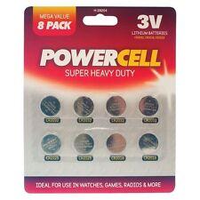 Paquete De 8 Super pesado deber Pilas de botón-UK Post Venta