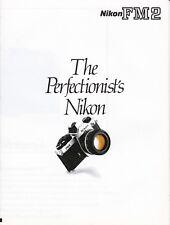 GENUINE ORIGINAL NIKON PRODUCT INFORMATION BROCHURE FOR FM2 FILM CAMERA