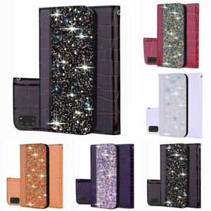 Bling Phone Case Leather Flip Wallet Cover For iPhone 11 12 Pro MAX Samsung A51