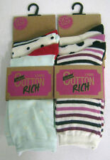 Ankle-High Cotton Striped Socks for Women
