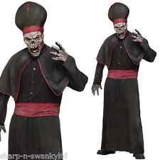 Zombie para hombre alto cura religioso Disfraz de Halloween MEDIANO