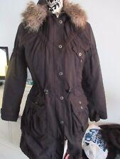 womens/girls hooded winter coat - black - parker style - size 10 - Next
