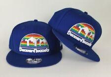 New Era Throwback Denver Nugget Rainbow Logo 9Fifty Snapback Hat Royal Blue