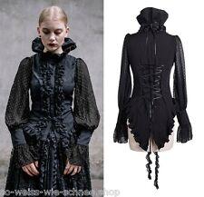 Devil Fashion SET Halskette Gothic Bluse Choker Blouse Steampunk Shirt SHT00201
