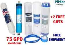 5 Stage Full Replacement Filter Set Reverse Osmosis Ro System 75gpd Membrane