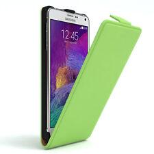 Tasche für Samsung Galaxy Note 4 Flip Case Schutz Hülle Cover Grün
